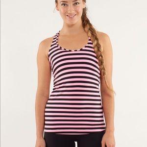 EUC Lululemon Tank Top Size 4 Shirt Pink Black CRB